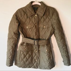 J Crew quilted jacket